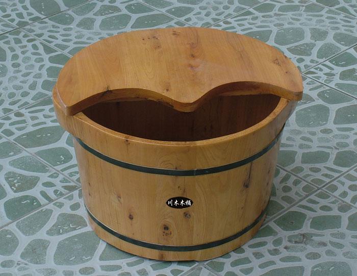 足浴桶_双耳足浴桶 - 足浴木桶系列 - 川木木桶
