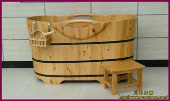 木桶 川木单边木扶手木桶 木浴桶