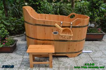 木桶 花瓣一孔木浴桶 泡澡桶
