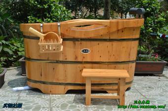 木桶 川木双边木扶手高低木桶 木浴桶