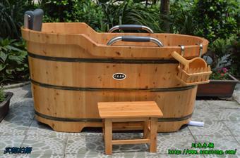 木桶 川木北川712双边浴桶 木浴桶 泡澡桶